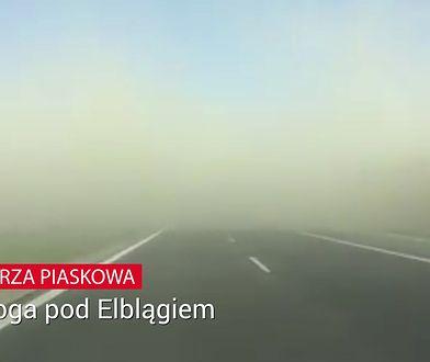 Burza piaskowa pod Elblągiem