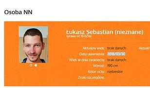 Zrzut ekranu ze strony zaginieni.pl