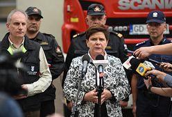 Premier Beata Szydło na terenach zniszczonych przez nawałnice