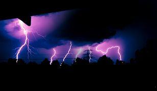 Zdjęcie burzy nad Warszawą