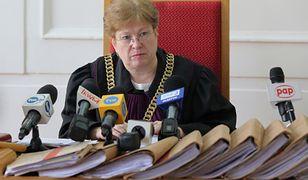 Sędzia Elżbieta Lewandowska podczas ogłoszenia wyroku dla Sebastiana Sz.