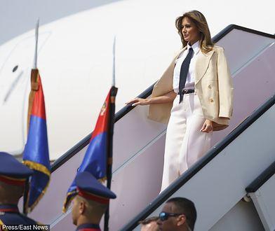 Samolot z Melanią Trump nie doleciał do Filadelfii. Musiał lądować awaryjnie