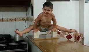 Arat Hosseini - dwuletni gimnastyk podbija Instagram