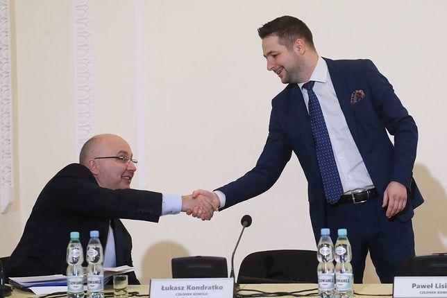 Robert Kropiwnicki i Patryk Jaki na posiedzeniu komisji weryfikacyjnej