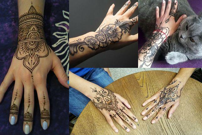 Wzory na tatuaż z henny na dłoni