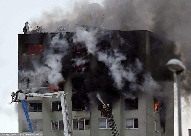 Słowacja. Wybuch i pożar w Preszowie