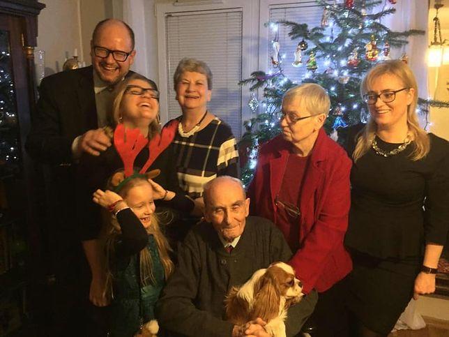 Magdalena Adamowicz z mężem i rodziną