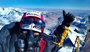 Miłka Raulin na szczycie Mount Everestu