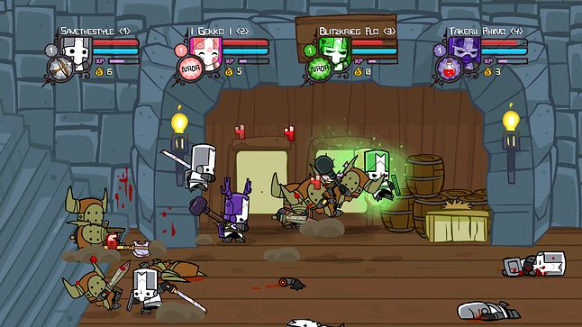 Castle Crashers, które zaczynało jako tytuł Flash, fot. Xbox DVR