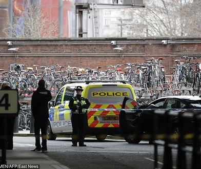 Policja zabezpiecza londyński dworzec Waterloo