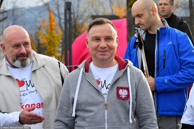 Wybory prezydenckie 2020. Prezydent Andrzej Duda zadowolony z wyników sondażu dla WP.