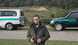 Premier Mateusz Morawiecki na granicy z Białorusią Jakub Kaminski
