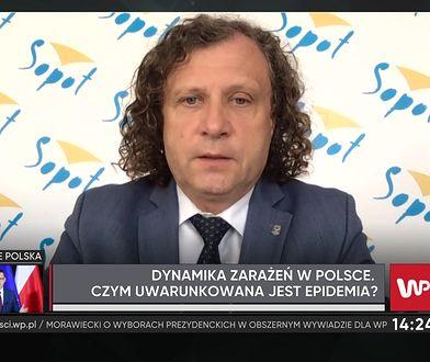 """Jacek Karnowski o zakażeniach COVID-19 w Sopocie. """"Mamy 4 przypadki"""""""