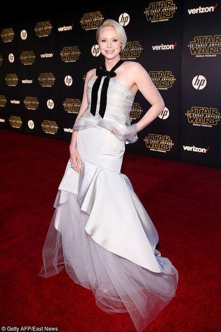 """Gwendoline Christie na premierze filmu """"Gwiezdne wojny: Przebudzenie Mocy"""""""