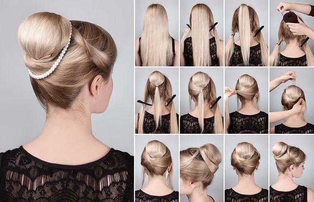 Fryzury z wypełniaczem do koka sprawiają wrażenie, że włosów na głowie jest znacznie więcej niż w rzeczywistości