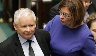 """Beata Mazurek ma wiadomość od Jarosława Kaczyńskiego. """"W imieniu Pana Prezesa"""""""