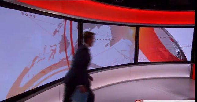 Wpadka prezentera BBC na żywo. Nagranie już stało się wiralem
