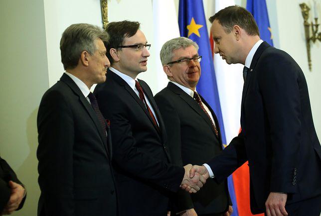 Prezydent Andrzej Duda i minister sprawiedliwości Zbigniew Ziobro.