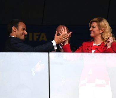 Państwo Macron i prezydent Chorwacji, Kolinda Grabar-Kitarović na finale mundialu. Co to były za emocje!