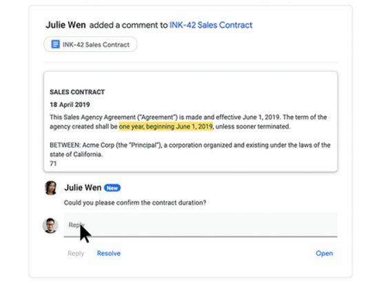 Dynamiczna wiadomość w Gmailu w przeglądarce, źródło: Google.
