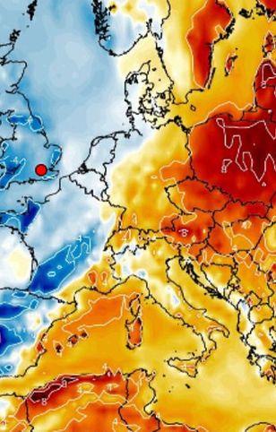 Pogoda prawie jak w wakacje (Wxcharts.com)