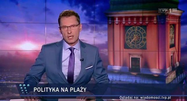 """Kuriozalny materiał w """"Wiadomościach"""". TVP ostrzega przed politykami PO na plaży"""