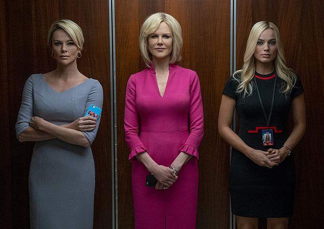 """Od lewej: Charlize Theron, Nicole Kidman, Margot Robbie w filmie """"Bombshell"""""""