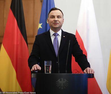 Andrzej Duda powiedział, że Polska jest zadowolona z członkostwa w UE