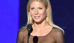 Gwyneth Paltrow na scenie podczas rozdania nagród Emmy