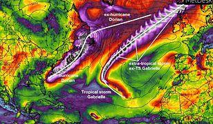 Huragan Dorian ma koleżankę. To tropikalny cyklon Gabrielle, który zmierza do Europy
