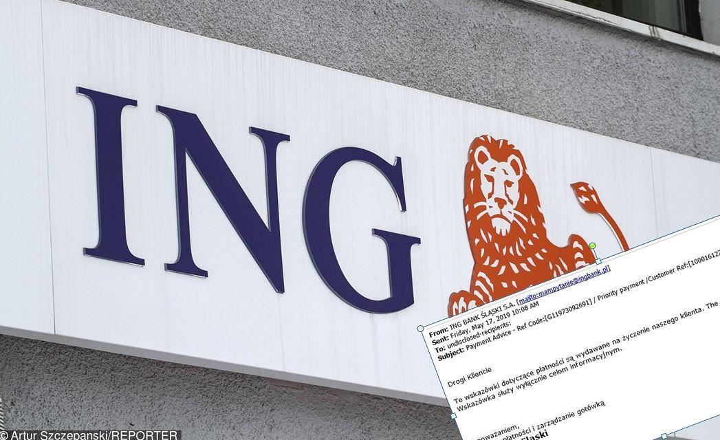 ING ostrzega przed oszustami. Fałszywe maile z groźnymi załącznikami