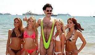 "Sacha Baron Cohen w mankini (kadr z filmu ""Borat"")"