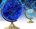 Globus Ziemi i nocnego nieba