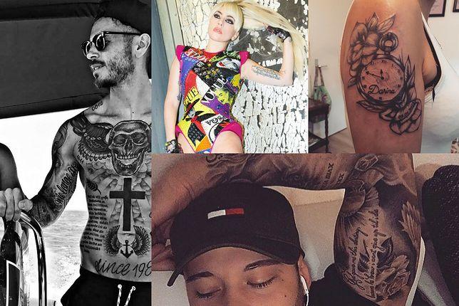 Wzory tatuaży napisów na ramię