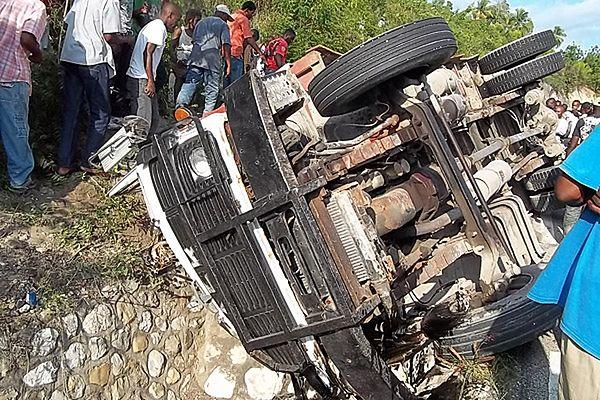 26 osób zginęło w katastrofie ciężarówki na Haiti