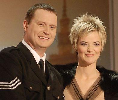 """Kevin Aiston i Monika Zamachowska w 2006 roku podczas nagrania programu """"Europa da się lubić""""."""
