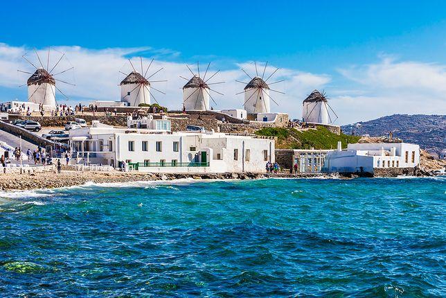 Wiatraki są charakterystycznym elementem pejzażu wyspy Mykonos