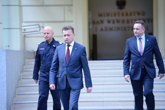 Ówczesny szef MSWiA Mariusz Błaszczak