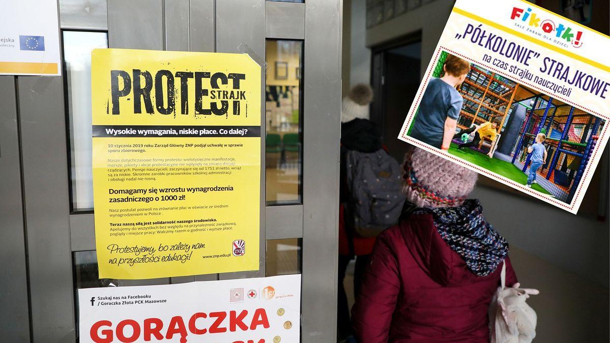 Strajk nauczycieli. Firmy proponują rodzicom rozwiązania: półkolonie strajkowe za 100 zł, niania za 240