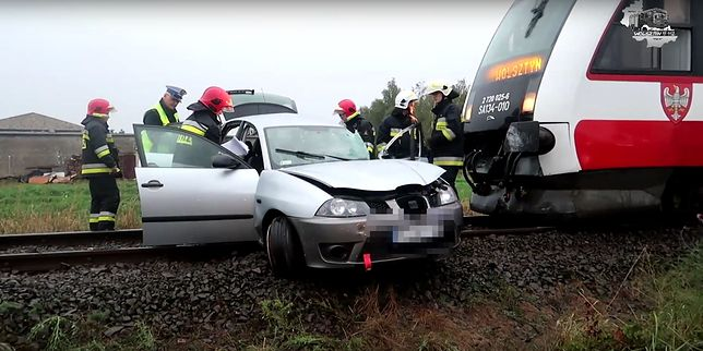 W wyniku wypadku przez kilka godzin nieczynny był ruch pociągów na trasie Wolsztyn - Poznań