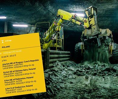 Polkowice: wstrząs w kopalni Ruda. Pod ziemią wciąż jest górnik