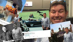 Mężczyzna, który zrobił sobie selfie z porywaczem trafił teraz na inne historyczne zdjęcia