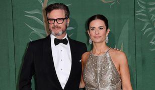 Colin Firth z żoną Livią podczas Tygodnia Mody w Mediolanie