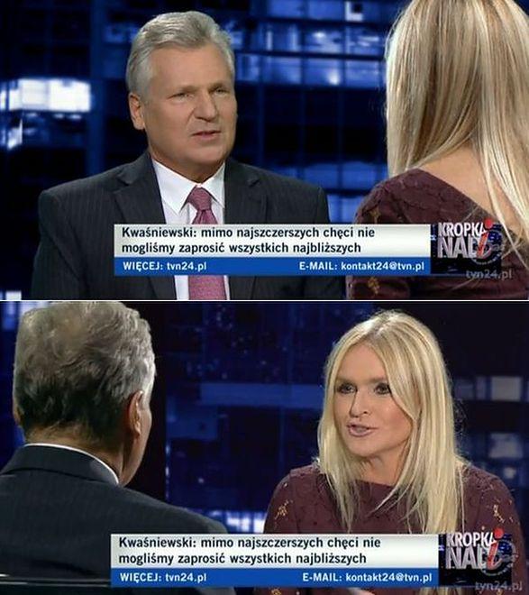 Kwaśniewski u Olejnik: rozmowa mało polityczna