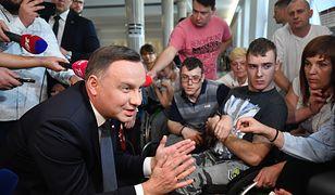 Andrzej Duda zapewnił protestujących o woli pomocy