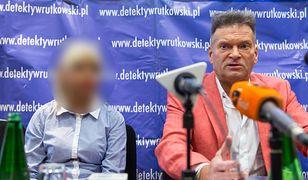 Karolina K. w towarzystwie Krzysztofa Rutkowskiego podczas jednej z konferencji ws. zginięcia Ewy Tylman
