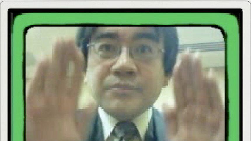 Iwata gra w WarioWare: Snapped