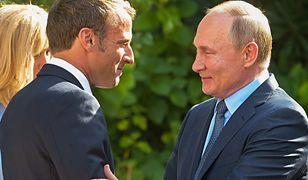 Emmanuel Macron i Władimir Putin rozmawiali telefonicznie o szansach rozwiązania konfliktu na Ukrainie