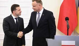 Prezydent RP Andrzej Duda i prezydent Ukrainy Wołodymyr Zełenski