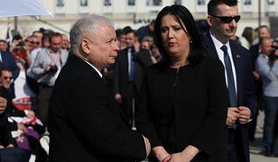 Jarosław Kaczyński i Anita Czerwińska